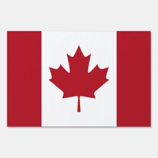 Bandera canadiense señales