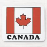 Bandera canadiense tapetes de ratón