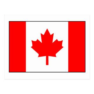 Bandera canadiense tarjeta postal