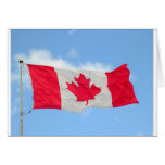 Bandera canadiense tarjeton