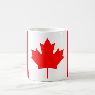 Bandera canadiense taza básica blanca