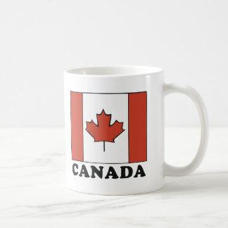 Bandera canadiense taza clásica