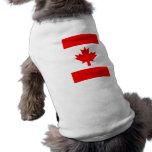 Bandera canadiense vertical camisa de mascota
