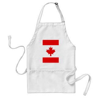 Bandera canadiense vertical delantales