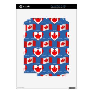 Bandera canadiense y lema iPad 2 calcomanía