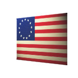 Bandera Canvased de Betsy Ross Antiqued Impresión De Lienzo