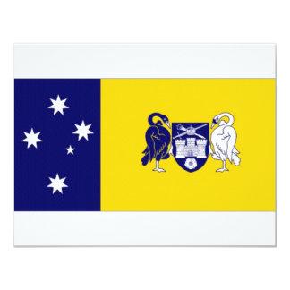 """Bandera capital del territorio de invitación 4.25"""" x 5.5"""""""