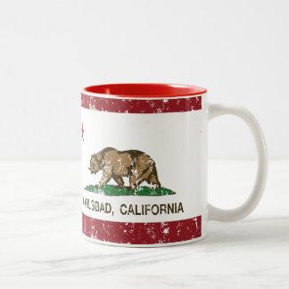 Bandera Carlsbad del estado de California Taza De Dos Tonos