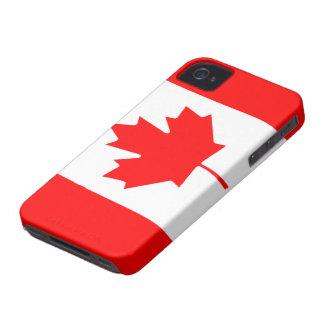Bandera caso intrépido de Canadá Blackberry del Case-Mate iPhone 4 Funda