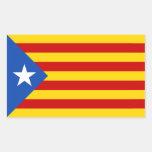 Bandera catalana de la independencia de CUATRO Pegatina Rectangular