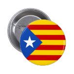 "Bandera catalana de la independencia de ""L'Estelad Pin Redondo 5 Cm"