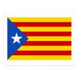 Bandera catalana de la independencia de tarjeta postal