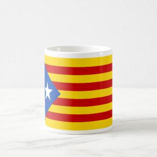 Bandera catalana de la independencia de taza de café