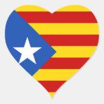"""Bandera catalana de la independencia del """""""" de calcomanía corazón"""