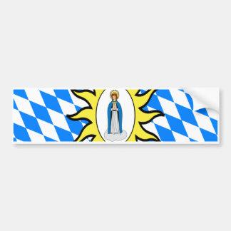 Bandera católica de la liga 30 años de la guerra d etiqueta de parachoque
