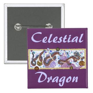 Bandera celestial del dragón pin