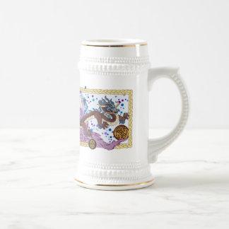 Bandera celestial del dragón taza de café
