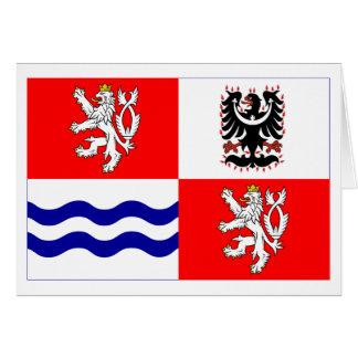 Bandera central de Bohemia Tarjeta De Felicitación