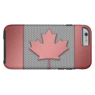 Bandera cepillada del canadiense de la mirada del funda de iPhone 6 tough
