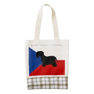bandera cesky de la checo-república del silo del bolsa tote zazzle HEART