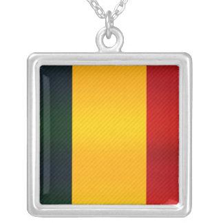 Bandera chadiana pelada moderna colgante cuadrado