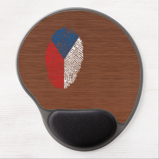 Bandera checa de la huella dactilar del tacto alfombrilla de ratón con gel