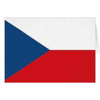 Bandera checa tarjeta pequeña