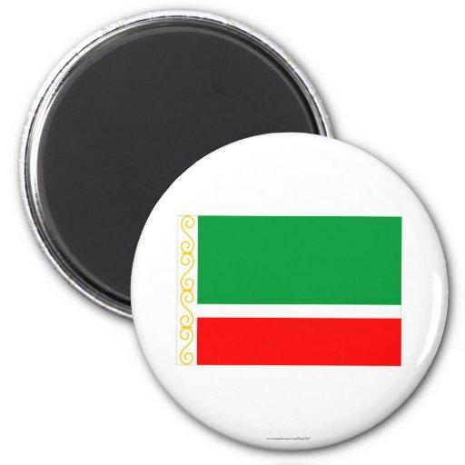 Bandera chechena de la república iman de frigorífico