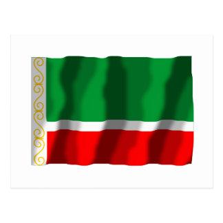 Bandera chechena de la república tarjetas postales
