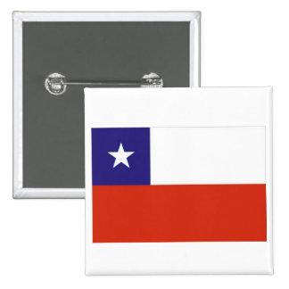 Bandera Chile V Pin Cuadrado