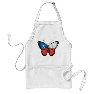 Bandera chilena de la mariposa delantales