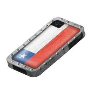 Bandera chilena industrial Case-Mate iPhone 4 fundas