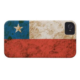 Bandera chilena rugosa iPhone 4 protector