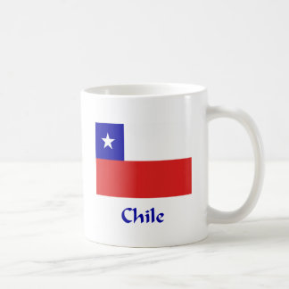 Bandera chilena taza básica blanca