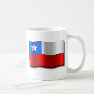Bandera chilena taza de café