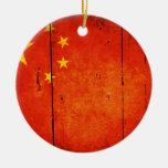 Bandera china de madera adornos