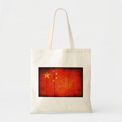 Bandera china de madera bolsa de mano