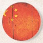 Bandera china de madera posavasos personalizados