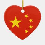 Bandera china de República Popular China de la ban Adorno Para Reyes