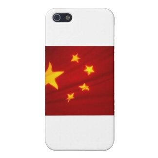 Bandera china iPhone 5 protectores