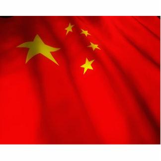 Bandera china que agita esculturas fotograficas