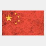 Bandera china rugosa rectangular altavoz