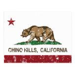 Bandera Chino Hills del estado de California Postales