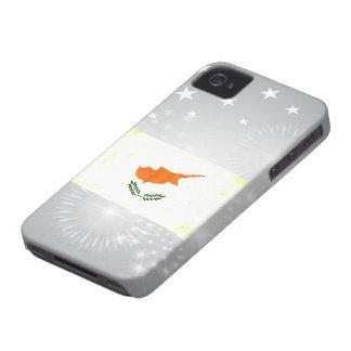 Bandera chipriota nerviosa moderna Case-Mate iPhone 4 cárcasa