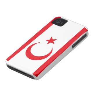 Bandera chipriota turca iPhone 4 Case-Mate carcasa