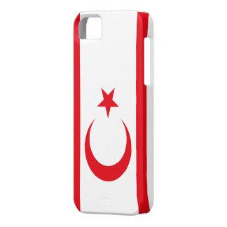Bandera chipriota turca iPhone 5 fundas