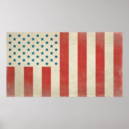 Bandera civil americana de la impresión de la paz póster