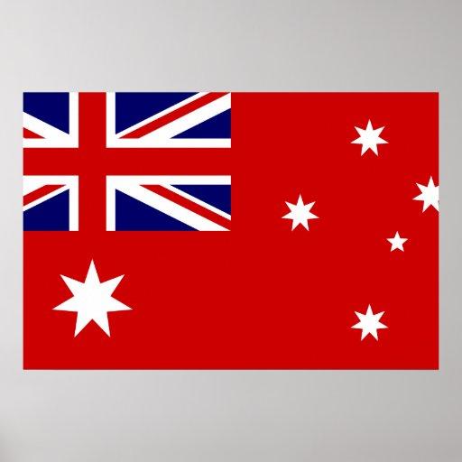 Bandera civil bandera de Australia, Australia Poster