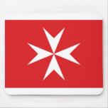 Bandera civil bandera de Malta, Maldivas Tapete De Ratón