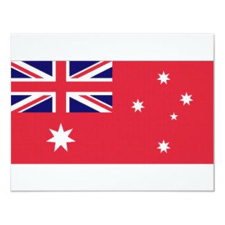 """Bandera civil de Australia Invitación 4.25"""" X 5.5"""""""